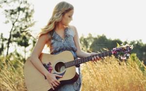 blonde-girl-guitar-music-field-hd-wallpaper